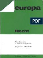 Menschenrechtsschutz, Provinzpolitik und westliche Institutionen im heutigen Rußland
