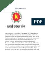 Amendment of BD Const