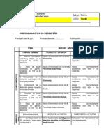 RÚBRICA ANALÍTICA DE DESEMPEÑO-2medio