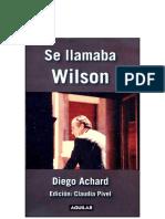 Se Llamaba Wilson - Diego Achard  .pdf
