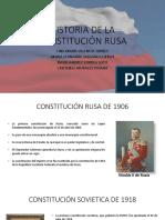 Historia de la constitucion rusa