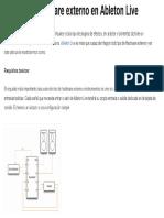 Conexion y configuracion Hardware externo en Ableton