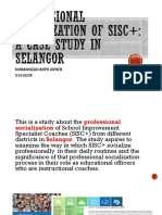 PROFESSIONAL SOCIALIZATION OF SISC+