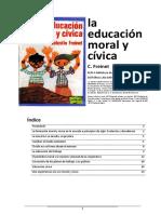 La educación moral y cívica