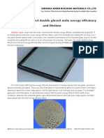 Materials That Affect Double Glazed Units Energy Efficiency and Lifetime