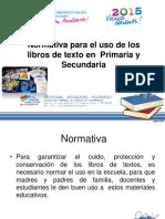 NORMATIVA DEL USO LIBROS DE TEXTO