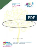 NORMATIVA PROTECCION CONSERVACION  y USO DE LOS LIBROS DE TEXTOS