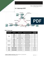 E2 Lab 11-6-3 Dépannage OSPF