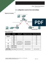 E2_Lab_2_8_2 Configuration Avancée d'Une Route Statique