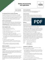 1025i- Making Application to Aus