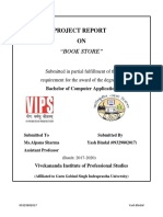 Project report Book store