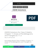 KSEEB Solutions for Class 9 Maths Chapter 11 Areas of Parallelograms and Triangles Ex 11.3 - KSEEB Solutions