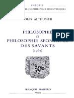 Althusser, Louis - Philosophie et philosophie spontanée des savants-François Maspero (1974)