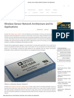 Wireless Sensor Network (WSN) Architecture And Applications