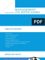 ICU Management Gram positive Septicaemia