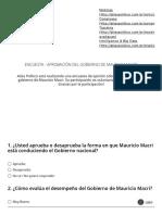 Encuesta - Aprobación del gobierno de Mauricio Macri 2