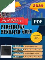 FAIL REKOD PERSEDIAN MENGAJAR 2020 EDISI KPM- By Mr.Mu