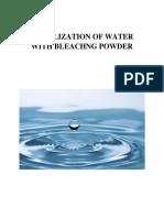 purification of water with bleaching powder bleaching powder