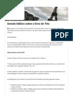Estudo bíblico sobre o livro de Tito – Emiliana.Life