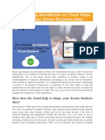 How Hosting QuickBooks on Cloud Helps Shape Your Dream Business Idea