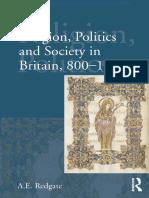 Religion Politics and Society in Britain 800-1066