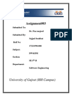 Dataware Assignment#777