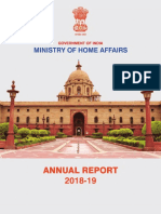 Annual Report of Ministry of Home Affairs