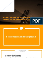 Heavy Work and Evaluating Physical Workloads and Lifting