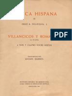 Querol (Ed.) - Villancicos y Romances