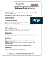 Python Database Programming