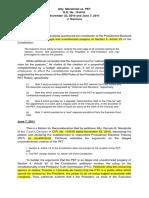 D.1 No. 4 Macalintal vs. Presidential Electoral Tribunal (PET)