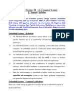 Embedded Systems - Unit I - Notes