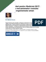 ritmul circadian Premiul Nobel pentru Medicină 2017.docx
