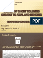 LECTURE 8 - DESIGN OF SHORT COLUMNS SUBJECT TO AXIAL AND BENDING