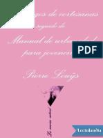 dialogos de cortesanas seguido de manual de urbanidad para jovencitas - pierre louys