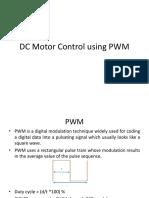 DC Motor Control using PWM