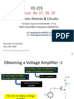 EE215 Lecture 37, 38, 39  Applying MOSFET in amplifier design.pptx