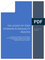Legacy of tony atkinson in inequality analysisi