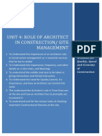 Unit 4 Role of Architect in Construction and Site Management-1