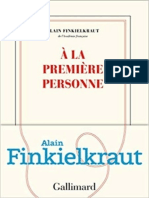 A la premiere personne - Finkielkraut, Alain