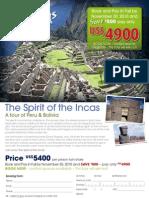 Peru Flyer - Soul Journeys