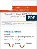 INSET 2019 powerpoint tabgon SCIENCE