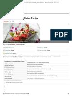 Compressed Melon Sliders Recipe