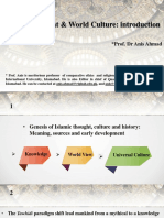 1-Islamic Thought & World Cultue_An Introduction Fall Sep 19