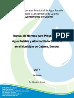 Manual de Proyectos 2017 Oomapas de Cajeme
