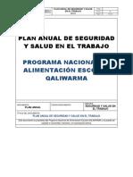 PNAEQW - PASST - Plan Anual de Seguridad y Salud en el Trabajo - 2018