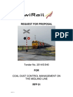 Covered coal wagon project - RFP Final