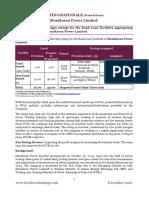 Rating Rationale - Manikaran