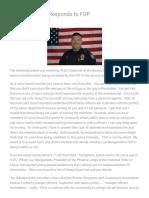 PLEA Chairman Responds to FOP - Phoenix Law Enforcement Association
