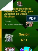 Elaboracion de papeles de trabajo para auditoria de obras publicas- Ing. Ismael Orellana